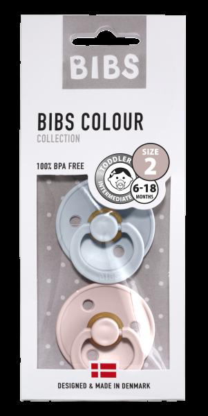 Bibs Schnuller Rundsauger im Doppelpack aus Dänemark Farben Cloud Blush
